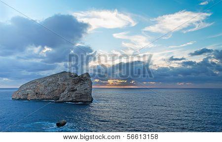 Isola Piana At Dusk