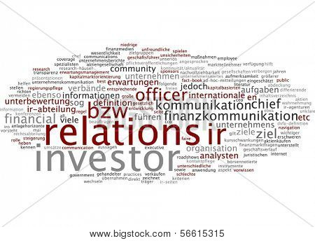 Word cloud -  investor relations