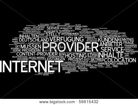Word cloud -  internet service provider