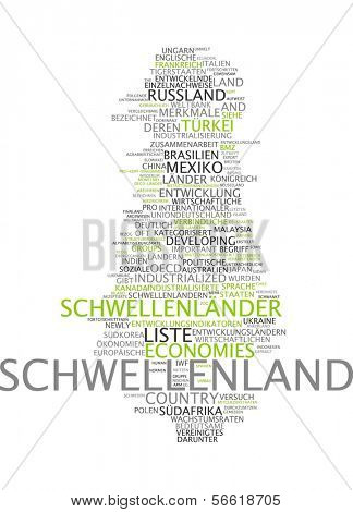 Word cloud - Newly industrialized country