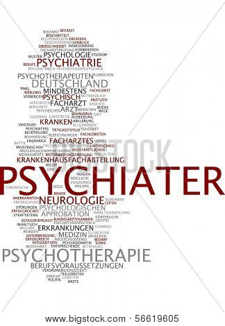 Word cloud - psychiater
