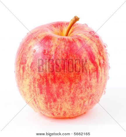 Fresh Red Gala Apple with Water Dew
