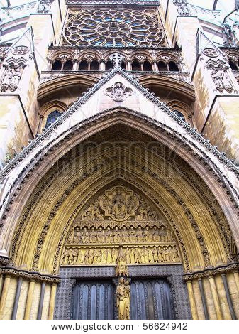 North entrance to Westminster Abbey, London