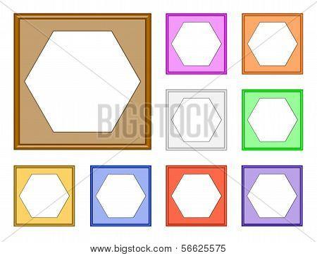 Modern Frame-hexagon