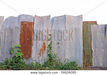 Old Galvanized Iron Fence