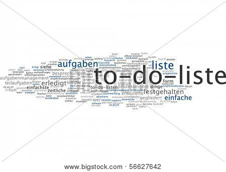 Word Cloud - To-Do List
