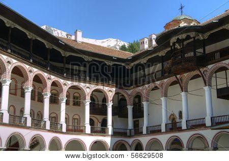 RILA Kloster, Bulgarien - Mai 03: Rila-Kloster ist das größte und berühmteste orthodoxen mo
