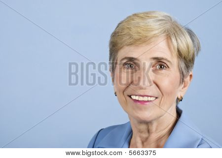 Smile Senior Business Woman