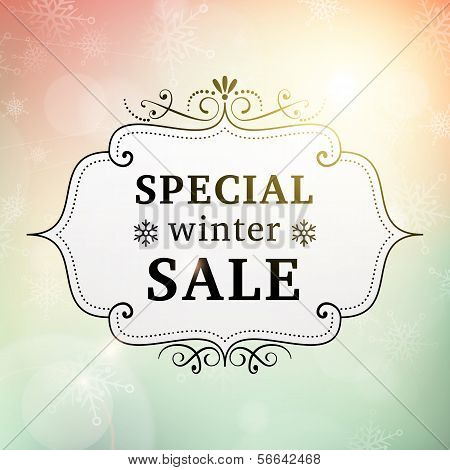 Winter Special Sale Vintage Poster