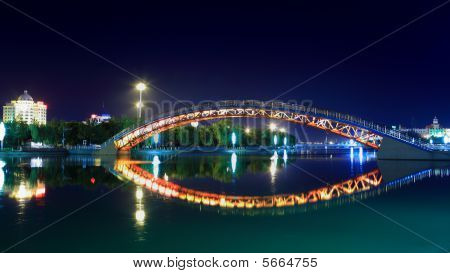 Miyun Bridge At Night Beijing China