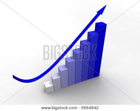 Blue Business 3D Graph