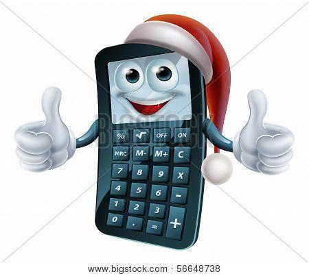 Calculator Math Christmas Character