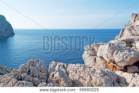 White Rocks In Capo Caccia