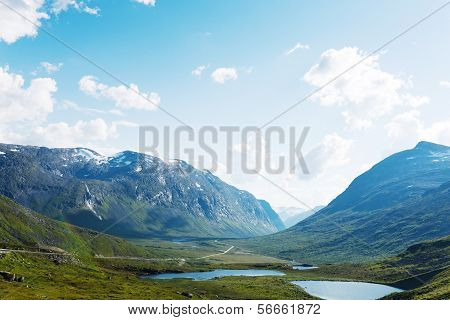 Lakes on the top of mountains, Norway