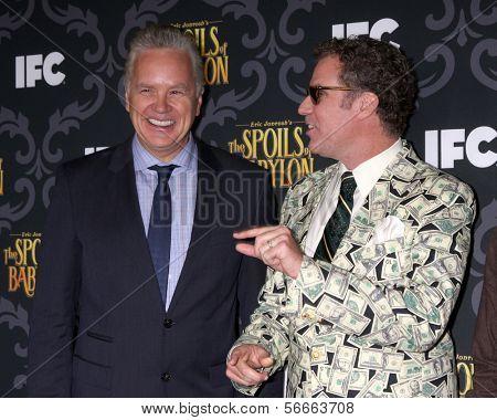 LOS ANGELES - JAN 7:  Tim Robbins, Will Ferrell at the IFC's