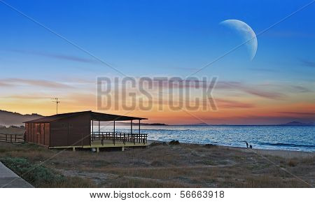 Wooden House By The Sea