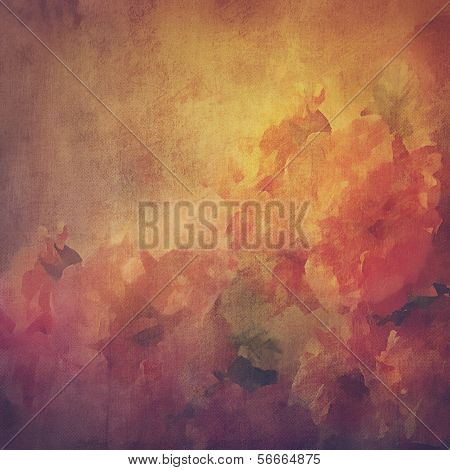 Vintage background with flowers (roses)