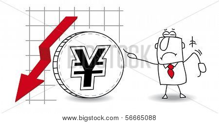fluctuation of the Yen down