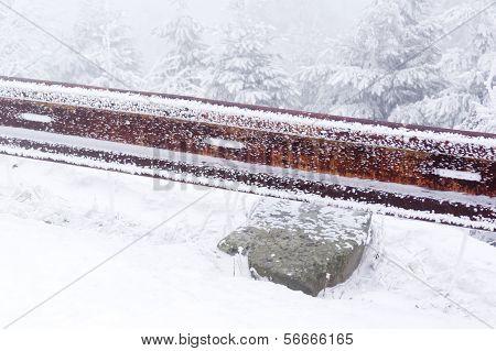 Guardrail On A Road