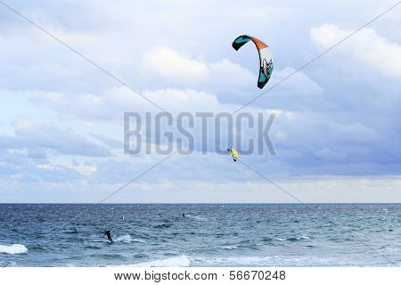 Two Kite Surfers