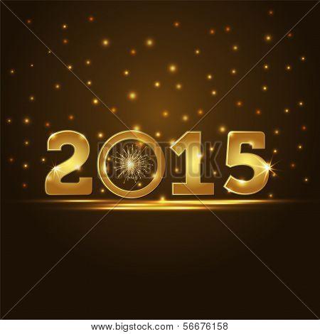 Golden 2015 Year Card Presentation