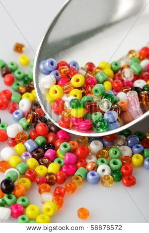 Beads Heap Isolated