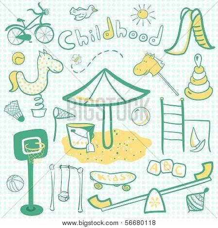 Cartoon children playground icon