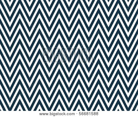 Thin Navy Blue And White Horizontal Chevron Striped Textured Fabric Background