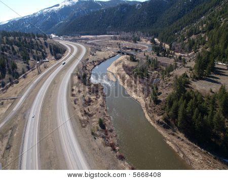 I90 Montana Aerial