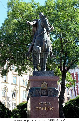 Monument Of Daniel Of Galicia In Lvov City