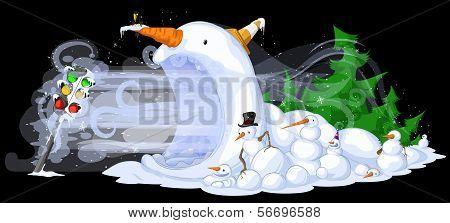 Snowmen Traffic Freeze