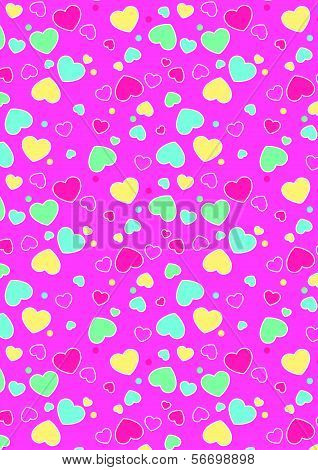 Cute hearts pattern.