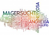 stock photo of anorexia nervosa  - Word cloud  - JPG