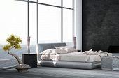 pic of master bedroom  - Luxury Bedroom interior with wooden floor - JPG