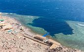 Blue Hole is a popular diving location on east Sinai, a few kilometres north of Dahab, Egypt on the