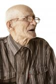 Senior Man In Eyeglasses Sideview