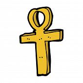 foto of ankh  - cartoon ankh symbol - JPG