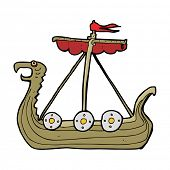 pic of viking ship  - cartoon viking ship - JPG