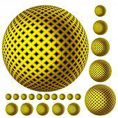 Постер, плакат: желтый свет геометрический рисунок