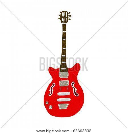 cartoon electric guitar