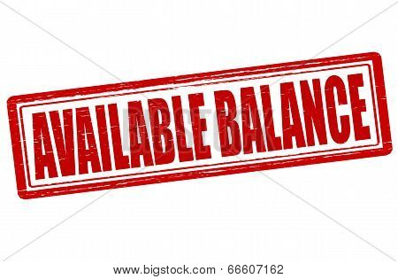 Available Balance