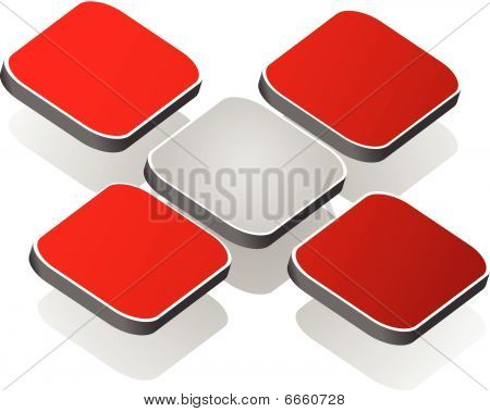 3D element- red cross