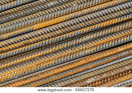 Rusty Steel Rods