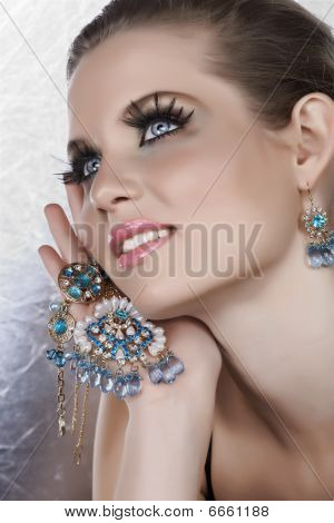 Blond Woman With Fake Lashes