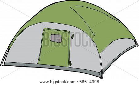 Isolated Dome Tent