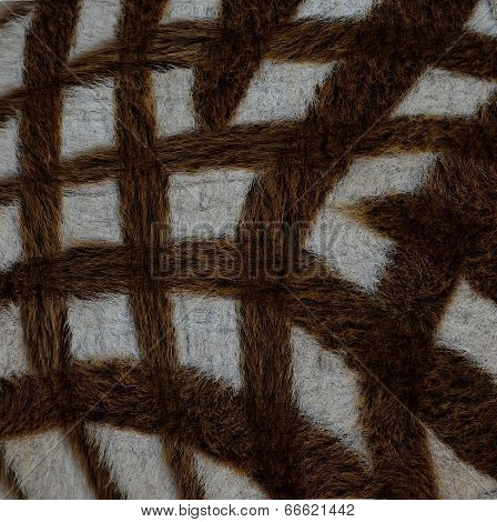 Cross Camouflage Background Pattern Of Zebra Fur Texture