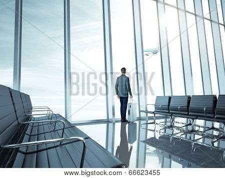 Businessman at airport