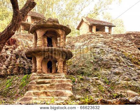 Stone Houses In Stone Garden