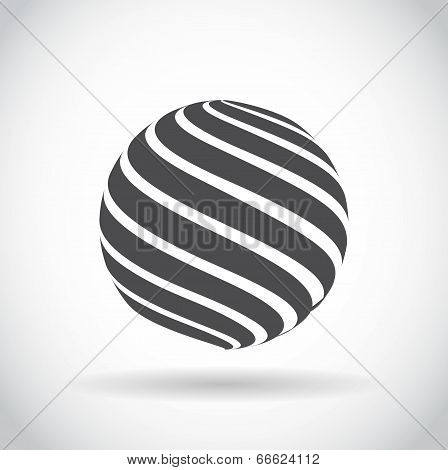 Abstract Swirl Sphere Globe Symbol