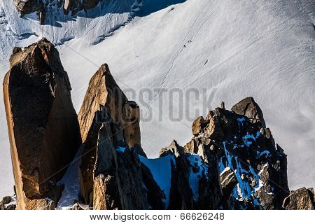 The View From Aiguille Du Midi During Acclimatization And Climb On Mont Blanc